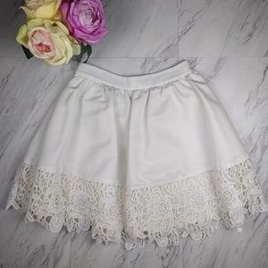 Express Off White Lace Skirt SZ4